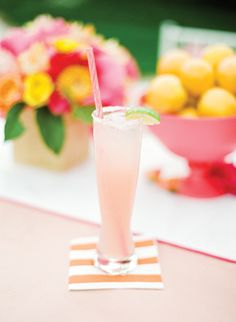 Signature drinks are a must at a bridal shower. Fun, personalized and delish.