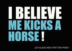 I believe me kicks a horse Better English, Perfect English, English For Beginners, Life Quotes, Funny Quotes, Believe Quotes, Happy Paintings, Seriously Funny, Humor