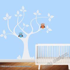 Vinyl Wall Decal Tree  Owls  Baby   Nursery Wall by CadyDesignz, $90.00