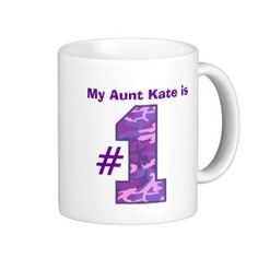 My AUNT is Number One Custom Name Purple Camo v1 Coffee Mug