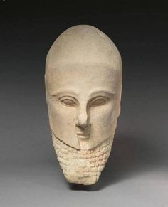 Cap amb casc Corinti, segle V aC.