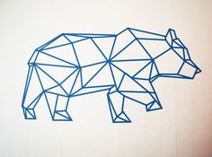 ours-masking-tape-bleu-decoration-murale                                                                                                                                                                                 Plus