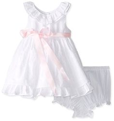 Laura Ashley London Baby Girls Swiss Dot Dress White 18 Months *** Continue to the product at the image link.