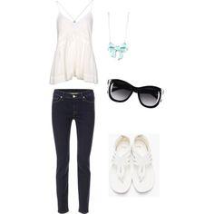 White, jeans, mint, black