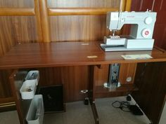 Thanks the customer show Luxhome sewing cabinet BA-3 in her house after getting our sewing machine cabinets. andy@luxhome.cc