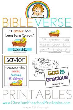 Christmas Scripture Memory, Copywork, Bible Vocab, Character of God, More....