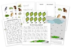 free printable preschool pack