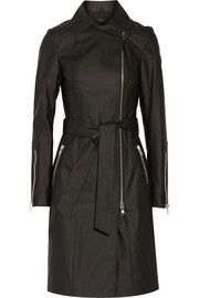 MackageEugenia coated stretch-cotton trench coat