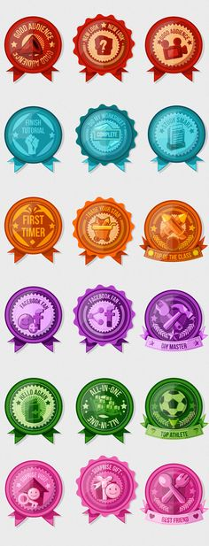 BADGE DESIGN - Achievement Badges &... #BadgesDesign #BadgesDesignIdeas #BadgeDesignIdeas