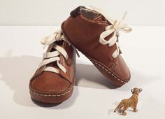 Baby shoes in toffee brown colour 100 leather by mylondonlane