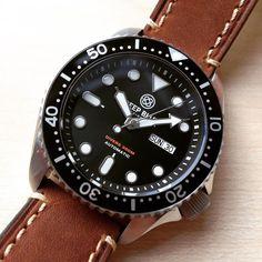 #WOTD Deep Blue NATO DIVER 300 on leather. @deepbluewatches #wristporn #watch #watches #watchesofinstagram #watchporn #deepbluewatches #watchoftheday