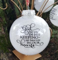 Christmas Tagged Remembrance Kelly Belly Boo-Tique Happy New Year In Memory Christmas Ornaments, Christmas Crafts To Make, Memorial Ornaments, Homemade Christmas Gifts, Memorial Gifts, Personalized Christmas Ornaments, Christmas Balls, Holiday Crafts, Christmas Decorations