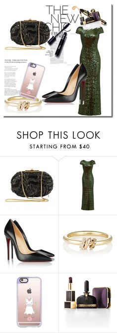 """Sin título #3839"" by onedirection-h1n1l2z1 on Polyvore featuring Elie Saab, Badgley Mischka, Christian Louboutin, SPINELLI KILCOLLIN, Casetify y Tom Ford"