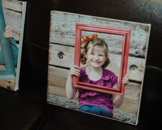 SO simple. Mod Podge photos onto a gallery canvas and - boom!