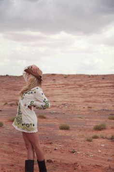 via The Rancher's Daughter: Desert Chic. Free People tunic, Frye boots