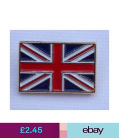 Union Jack Oblong Quality Enamel Lapel Pin Badge T923