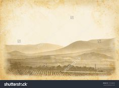 vintage print vineyard hills - Google Search