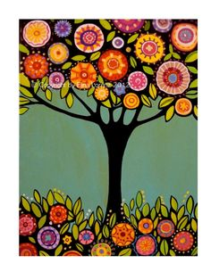 Digital Print from original painting Tree with by sublimecolors,