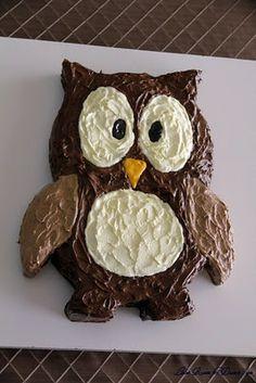 Owl Cake I want one!!!