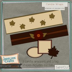 Candle Wraps from Snickels Corner Crafts: $1.50 @ browniescraps.com