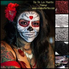 Halloween Makeup using Younique Eye Pigments.  Using colors Corrupted, Naïve, Heartbroken and Feisty.  www.krazylashlady.com #younique #Halloween #halloweenmakeup #makeup #3DMascara