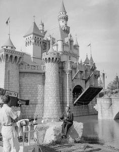 July 17, 1955 -- Walt Disney at the opening day of Disneyland