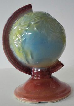 Untitled. [ceramic planter in shape of a globe] , Cartographer: American. 20th Century (Published: c1946. Shawnee Pottery)