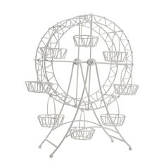 WHITE METAL FERRIS WHEEL CUPCAKE HOLDER *** Quickly view this special  product, click the image : DIY : Do It Yourself Today