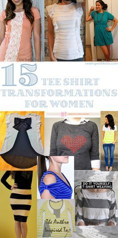 Have an old tee shirt laying around? Here are 15 amazing transformations that will bring new life to an old tee.