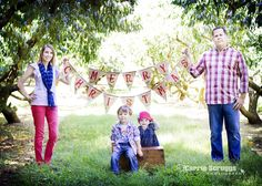 Merry Christmas flag banner - love their outfits and the pose!  You can find the banner here: http://www.etsy.com/listing/62301934/merry-christmas-burlap-banner-bunting