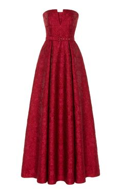 Strapless Belted Jaquard Gown by Zuhair Murad Pretty Dresses, Beautiful Dresses, Kpop Outfits, Fashion Outfits, Red Gowns, Ball Gown Dresses, Zuhair Murad, Trends, Dream Dress