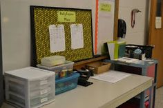 Secondary Classroom Organization Tips -- classroom supplies, lesson plans, make-up work, missing work, etc.  Awesome idea to keep all materials in one location. If students are missing something they know where to go!