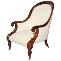 19th Century English armchair | See more antique and modern Armchairs at http://www.1stdibs.com/furniture/seating/armchairs