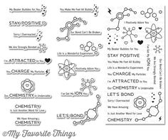 Laina Lamb Design Undeniable Chemistry stamp set in use