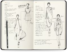 Fashion Illustration Design Details - Tailor-made for fashion designers - Aim for fast sketching and brainstorming - Mini fashion dictionary - 280 barely visible figure templates - Pocket in the back of the sketchbook Specs - Si Fashion Illustration Sketches, Fashion Sketchbook, Fashion Sketches, Dress Sketches, Design Illustrations, Fashion Dictionary, Fashion Design Drawings, Drawing Fashion, Fashion Figures