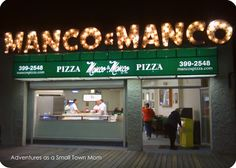 Small Town Eats | Ocean City, NJ | Adventures as a Small Town Mom    Manco and Manco Pizza