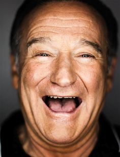 Robin Williams, character faces; over joyed