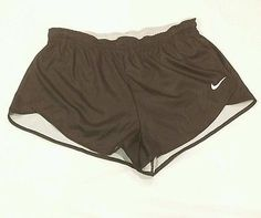 NEW Nike dri fit hi-cut half split running shorts mens slim fit Large black