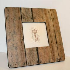Rustic frame, Picture frame, Photo frame, Decoupaged frame, Old wood decor
