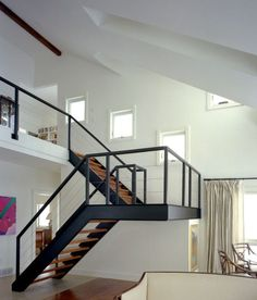 Loft Stairs Metal Floating Staircase Ideas For 2019 Loft Staircase, Floating Staircase, House Stairs, Stair Railing, Staircase Design, Staircase Ideas, Stair Design, Spiral Staircases, Staircase Metal