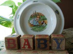 Thornton Burgess Cup Plates   ... Baby Plate 1905, Nursery Rhyme Baby Bunting, Porcelain Deep Bowl Plate