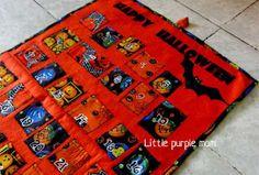 Little Purple Mom: Calendario de Halloween. Tutorial how to make a Calendar, Crafts, handmade.