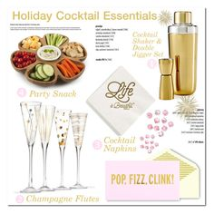 Holiday Cocktail Party by asteroid467 on Polyvore featuring polyvore interior interiors interior design home home decor interior decorating Core Home Hotel Collection Breathless Paper Co. Kate Spade polyvorecommunity homedesign homeset holidaycocktails