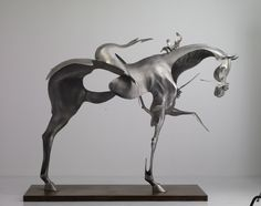 figurative equine sculpture by a trio of Beijing-based artists who go by the name Unmask Group - Liu Zhan, Kuang Jun and Tan Tianwei