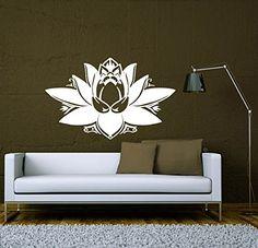 Wall Decals Lotus Flower Om Sign Mandala Ornament Indian Geometric Moroccan Pattern Yoga Namaste Om Vinyl Sticker Wall Decor Murals Wall Decal: Amazon.co.uk: Kitchen & Home