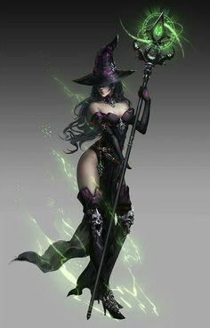 Female Witch - Pathfinder PFRPG DND D&D d20 fantasy