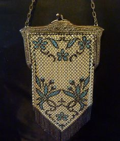 Rare 1920s Flapper dance purse Mandalian Mesh by Rareantiquegifts