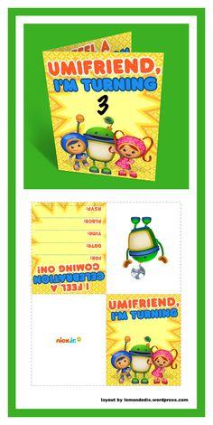 Umizoomi Party Invitations