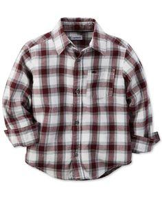Carter's Toddler Boys' Plaid Button-Up Shirt