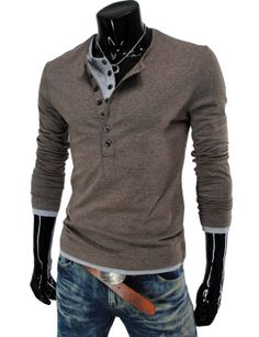 Men's double henley shirts and jeans...nice and relaxed.